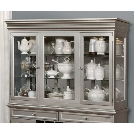 Furniture of America Deedra Dining Hutch in Champagne