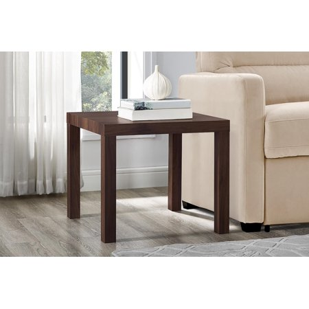 Mainstays Parsons Square End - Plank Square Table
