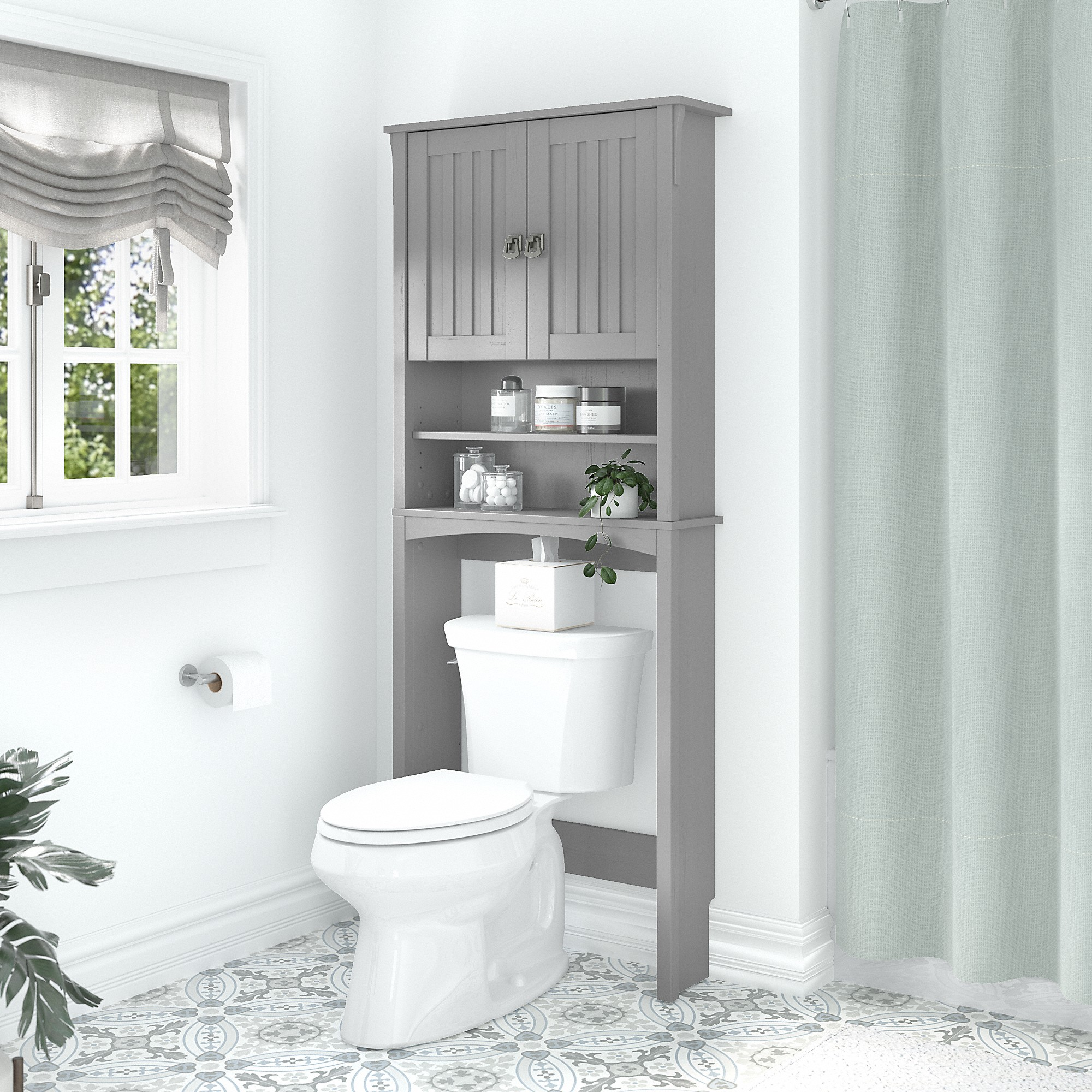 The Toilet Storage Cabinet, White Over The Toilet Cabinet With Towel Bar