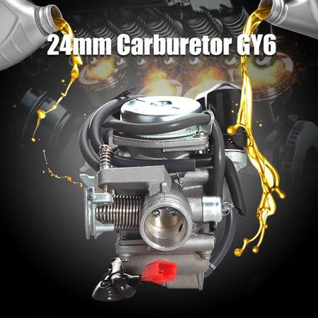 4 Stroke GY6 110cc 125cc 150cc Carburetor Carb 24mm For ATV Go Cars Kart Scooter Roketa Taotao Bore ()