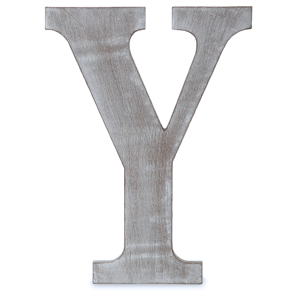 Gray The Lucky Clover Trading Q Wood Block Charcoal Grey Wall Letter 14 L