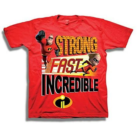 01dafcb75 disney - disney pixar the incredibles shirt - toddler boys 'strong, fast,  incredible' incredibles t-shirt (4t) - Walmart.com
