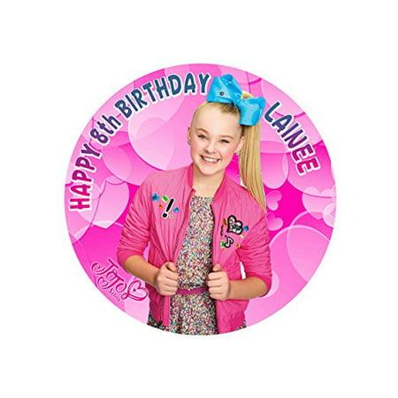 JoJo Siwa Joelle Joanie Edible Cake Image Personalized Topper Icing Sugar Paper 8 Round Circle