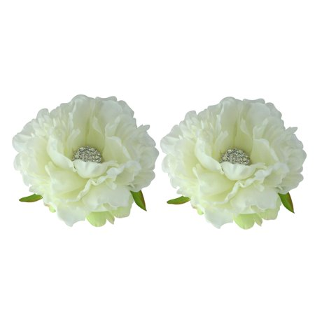 """Allstate Floral Set of 2 Ivory Artificial Peony Spring Floating Flowers 4.5"""""""