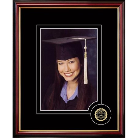 Middle Tennessee State University Framed - Campus Images TN999CSPF 5 x 7 in. Middle Tennessee State University Graduate Portrait Satin Mahogany Frame