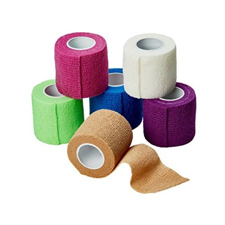 MEDca Self Adherent Cohesive Wrap Bandages 2 Inches X 5 Yards 6 Count, FDA Approved (Rainbow Color) - image 2 of 2