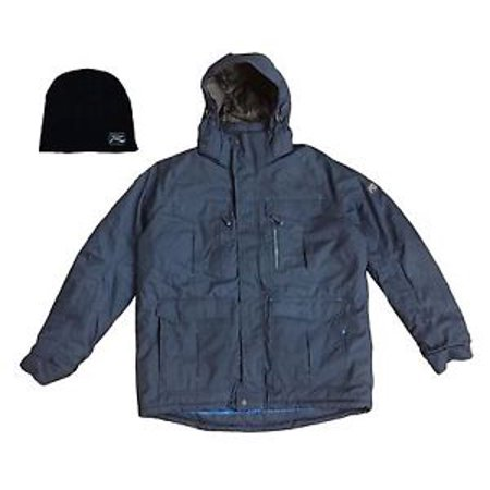 Medium Gray Slate - Zeroxposur - Men's Medium Snowboarding / Skiing / Winter Jacket - Gray Slate - Free Beanie - R Way Boarding Company