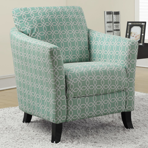 Monarch Curved Back Accent Chair in Faded Green