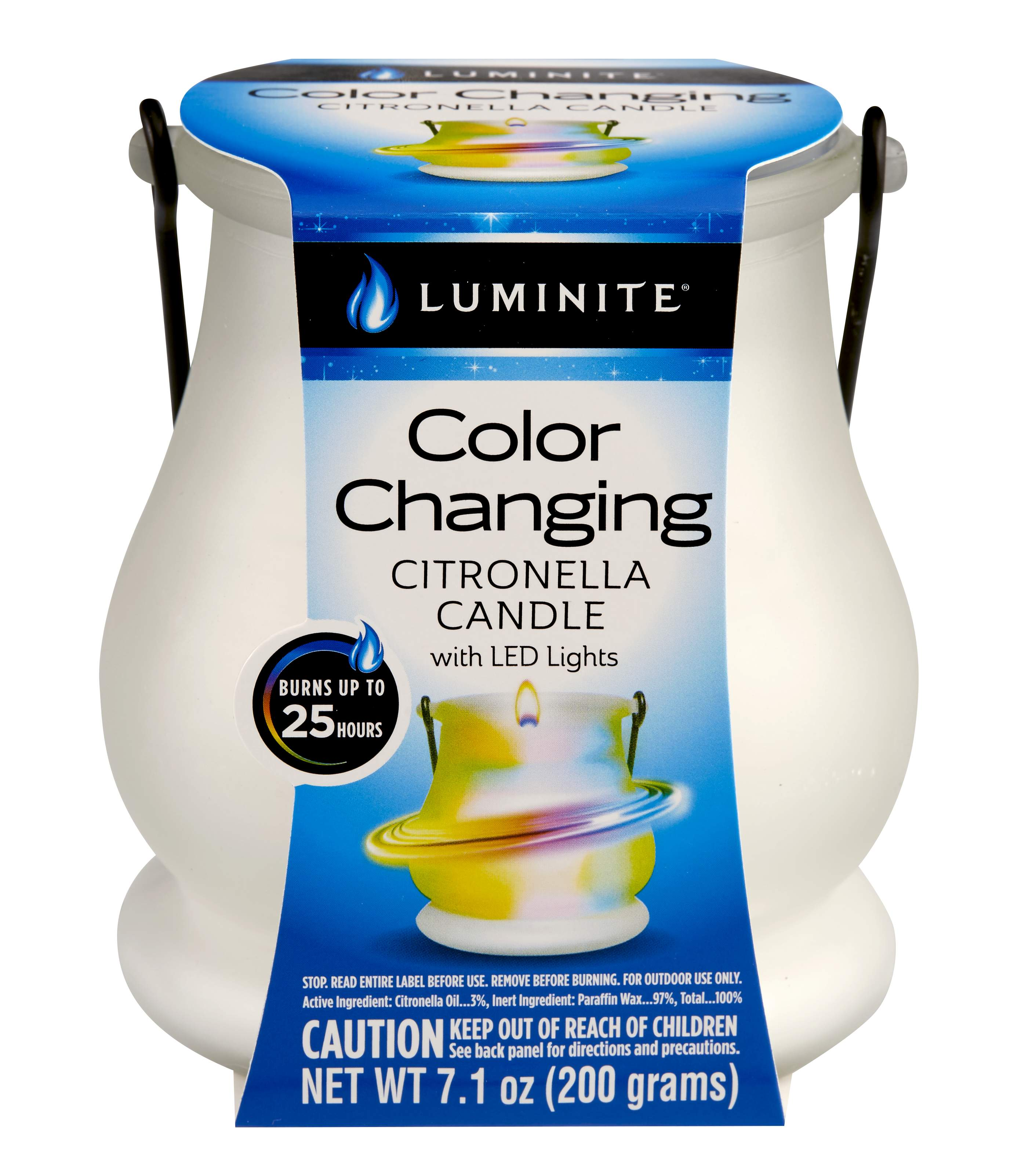 Luminite Color Changing Citronella Candles with LED lights - Lantern
