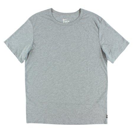 Nike Mens Solid Futura T Shirt Heather Grey
