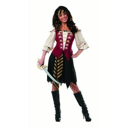 Elegant Pirate Womens Buccaneer Skull Cross Bone Halloween - Deadman's Cross Halloween