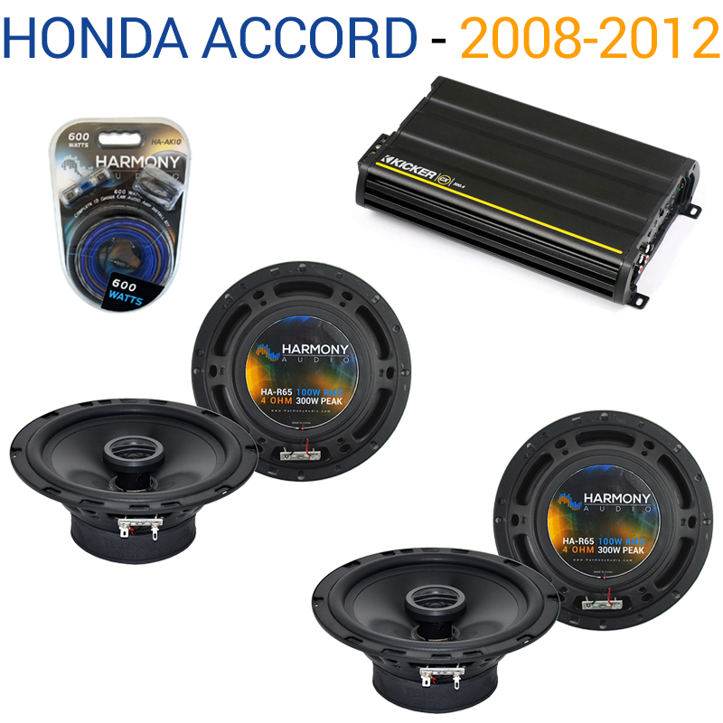 Honda Accord 2008-2012 OEM Speaker Replacement Harmony (2) R65 & CX300.4 Amp - Factory Certified Refurbished