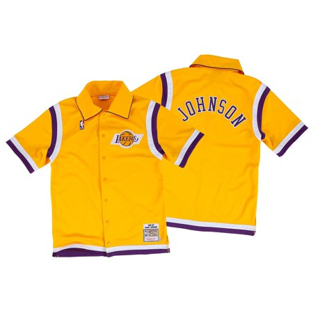 quality design b1350 6f806 Magic Johnson Shooting Shirt 86-87 Lakers Replica NBA Mitchell and Ness