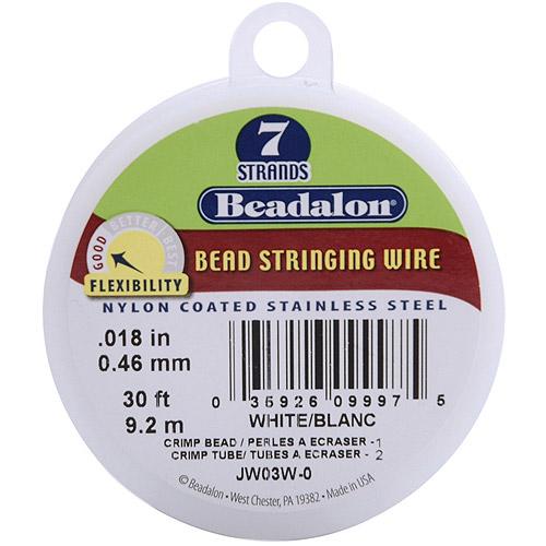 Beadalon 7-Strand Stringing Wire .46mm Diameter, 30'