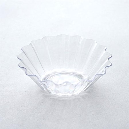 BalsaCircle 25 pcs 1.5 oz. Disposable Plastic Mini Seashell Bowls - - Clear Plastic Bowl