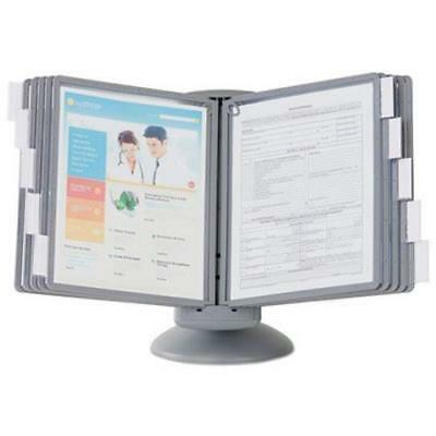Durable Sherpa Rotating Desk Catalog Rack, 10 Panels by
