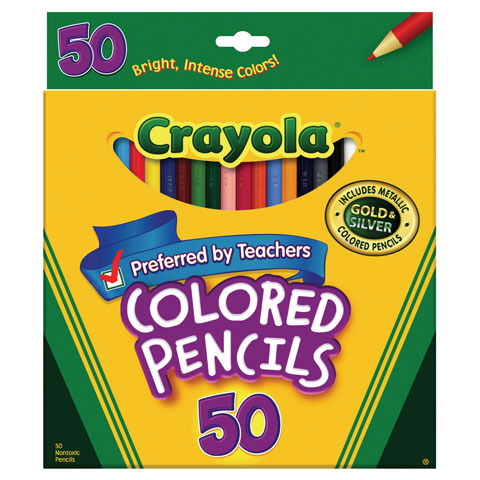 Crayola 50 Count Colored Pencils- Perfect for classrooms