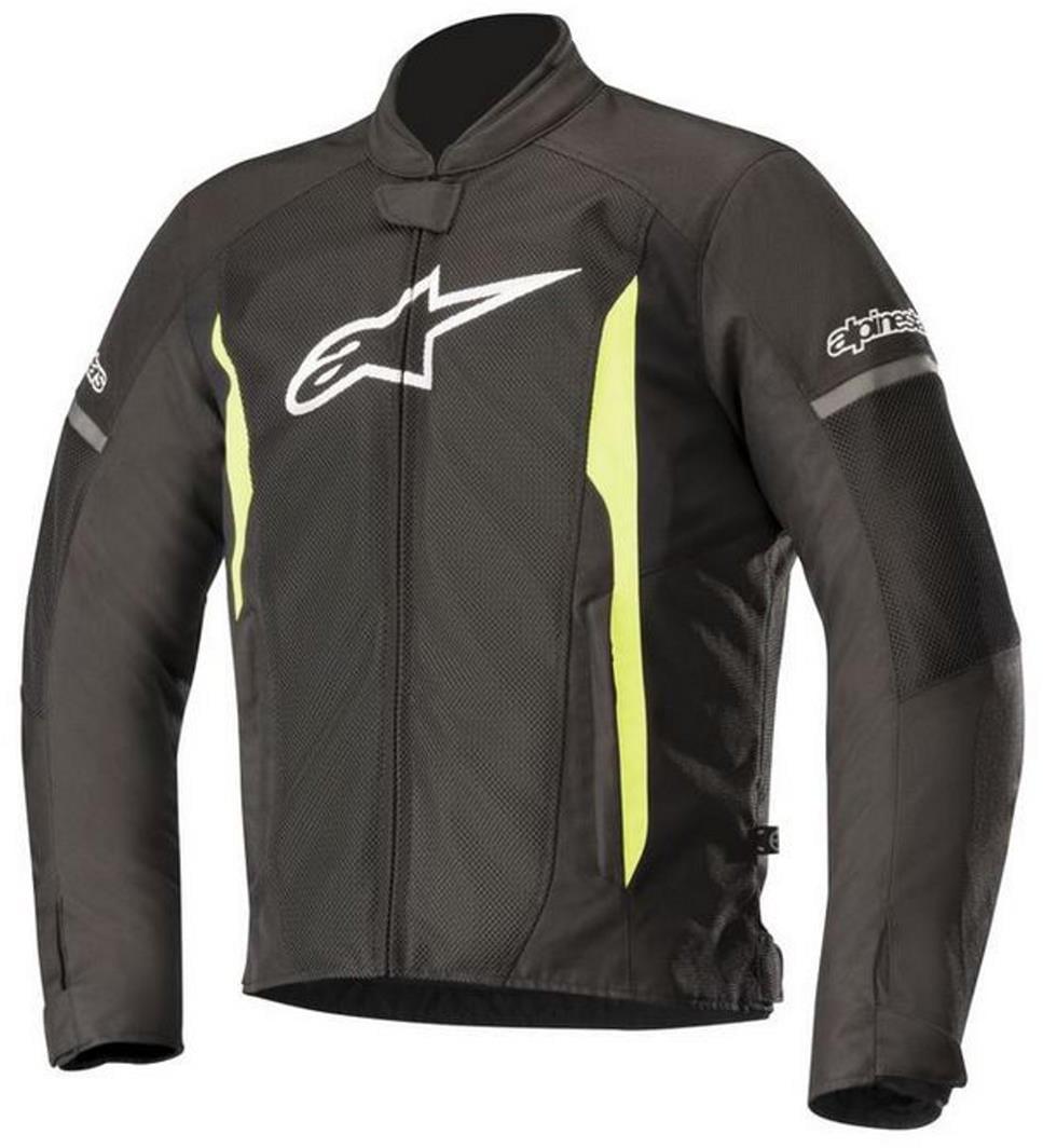 Alpinestars T-Faster Motorcycle Mesh Jacket Black/Yellow Medium