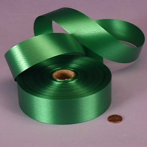 Emerald Green Embossed Poly Satin Ribbon, 4433760