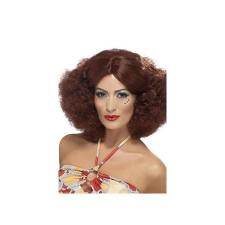 1970 Auburn Afro Wig 43239 Smiffy's Brown One Size Fits All, One Size Fits All - Brown Afro