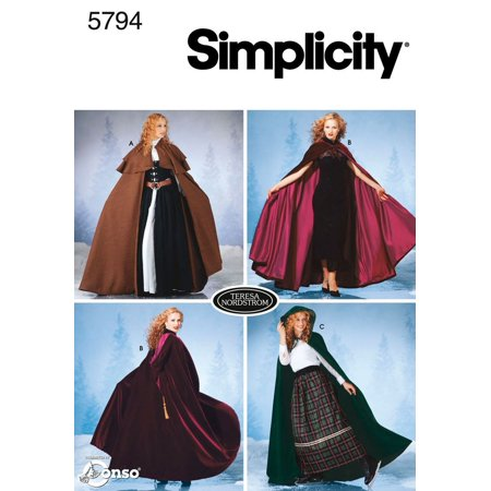 Simplicity Sewing Pattern 5794 Misses Costumes, A (XS-S-M-L), Misses costumes in size a (xs-s-m-l) simplicity pattern 5794 By Simplicity Creative Group Inc - (Best Simplicity Creative Patterns Mens Costumes)