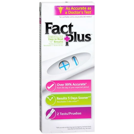 Fact Plus Select One-Step Pregnancy Tests 2 Each (Pack of 4)