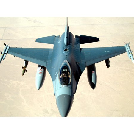 - Pilot gives a thumbs up after successfully refueling his F-16 Fighting Falcon Poster Print by Stocktrek Images