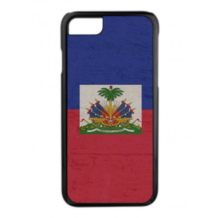 Haiti Flag Grunge Design Black Rubber Case for the Apple iPhone 7 / iPhone 8 - iPhone 7 Accessories - iPhone 8 Accessories ()