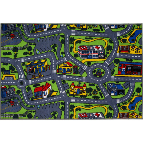 Fun Rugs Children's Fun Time Collection, Driving Time