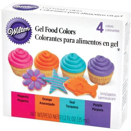 (2 Pack) Wilton Neon Gel Food Colors Set, 4ct (Best Color For Food)