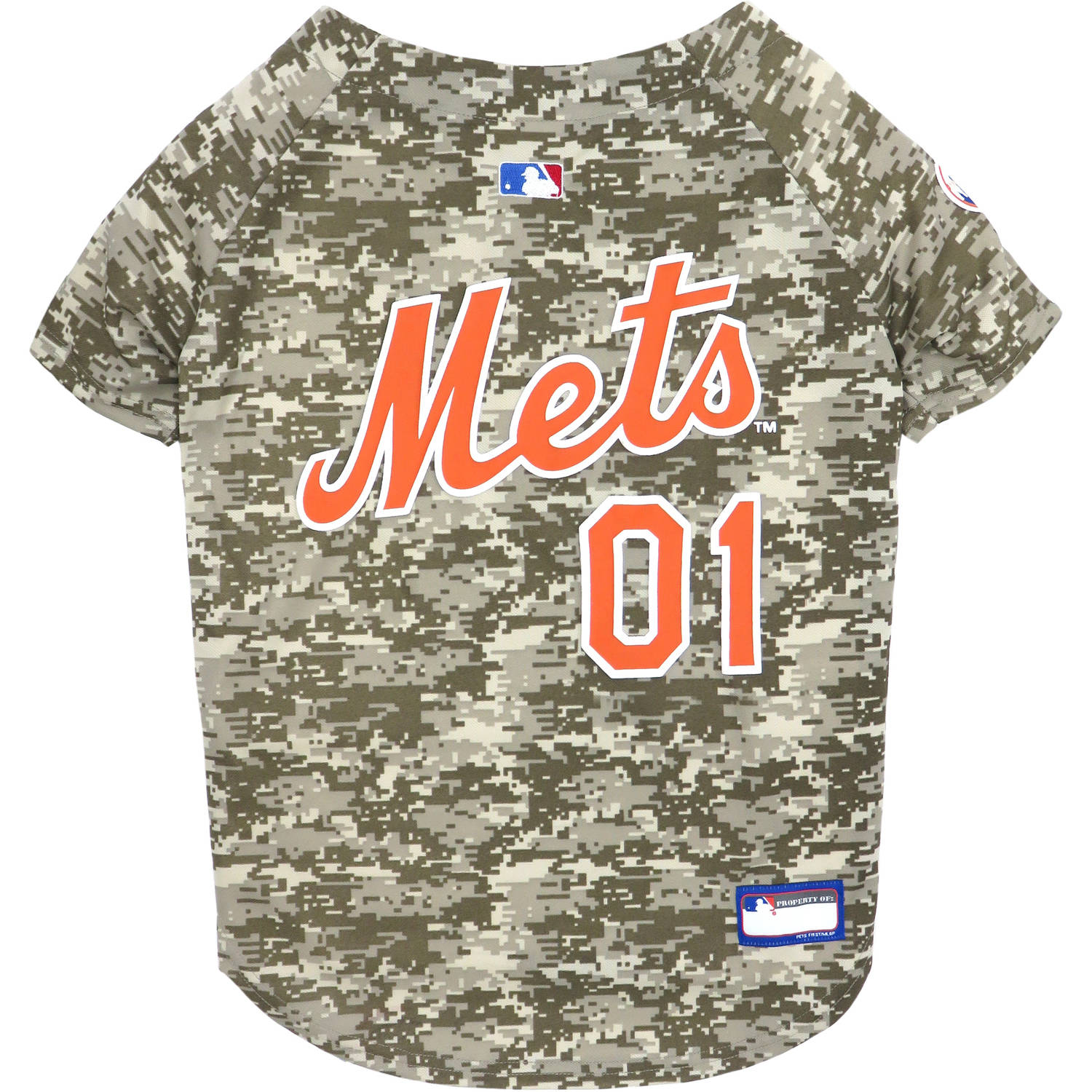 Pets First MLB New York Mets Pet Camo Jersey, 5 Sizes Available