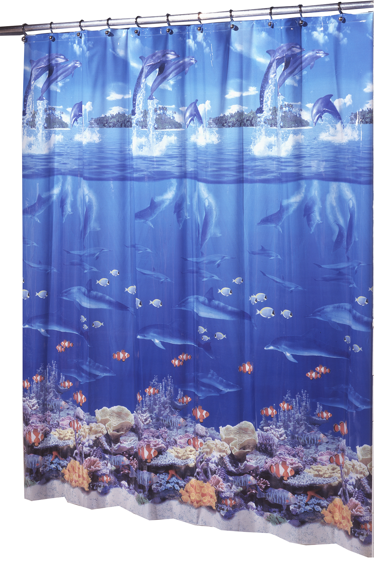 Ex Cell Home Fashions Sea Life Vinyl Shower Curtain