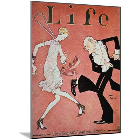 Dancing the Charleston During the 'Roaring Twenties', Cover of Life Magazine, 18th February, 1928 Vintage 1920s Wood Mounted Print Wall Art