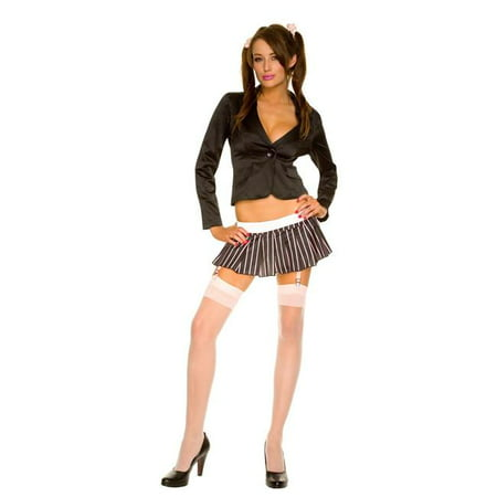 Long Sleeve Jacket with Stripes Pleated Skirt, Small & Medium - image 1 of 1