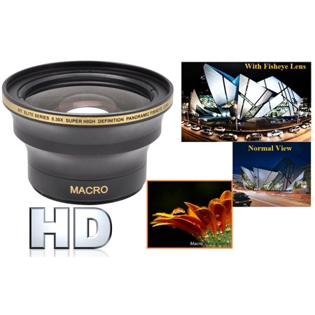 Professional Hi Def Outstanding Fisheye Lens for Canon Camcorder (52 0r 58mm Compatible) Hi Canon Camcorders