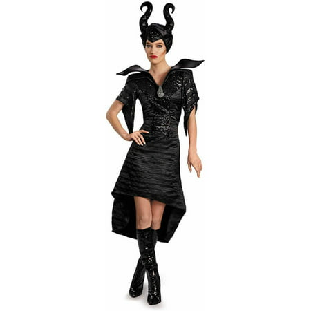 Disney Maleficent Deluxe Glam Christening Gown Women's Adult Halloween - Maleficent Costume Staff