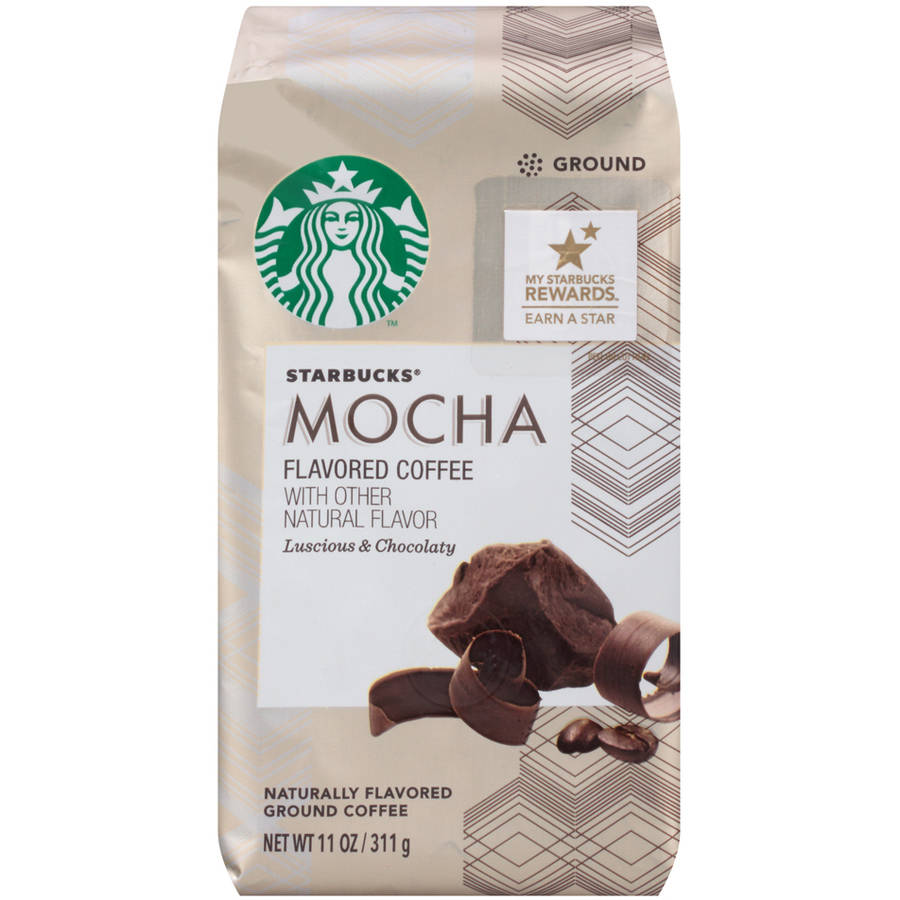 Starbucks�� Mocha Flavored Coffee with Other Natural Flavor Luscious & Chocolaty 11 oz. Package