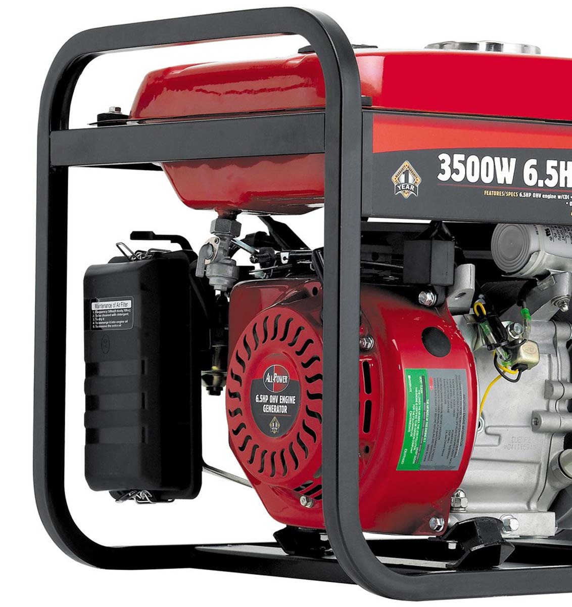Allpower 3500W Portable Generator Deluxe Side Panel, APG3001   Walmart.com