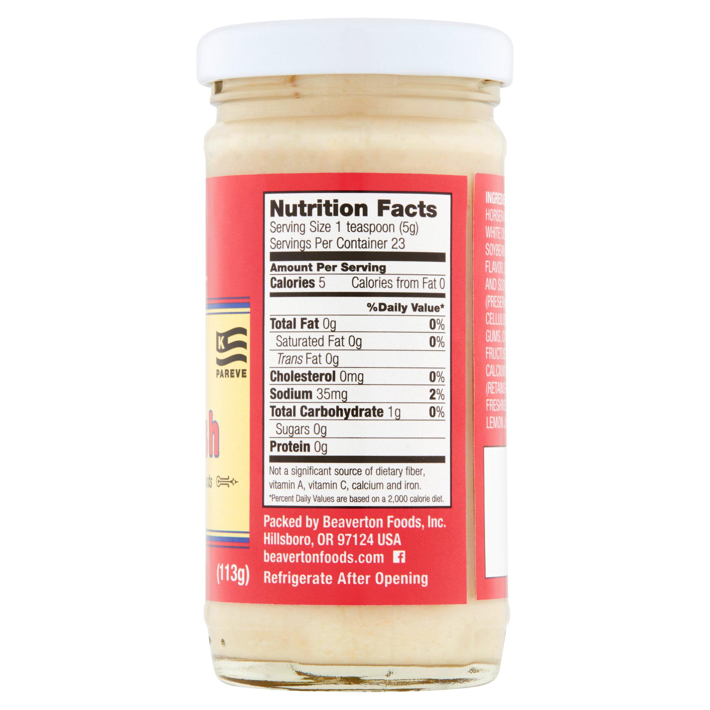 Beaver Brand Extra Hot Horseradish 4 Oz Walmart Com Walmart Com