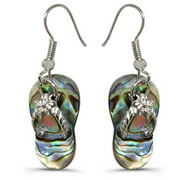 88 Imports AE0042 Abalone Shell Earrings - Slipper Inspired Design