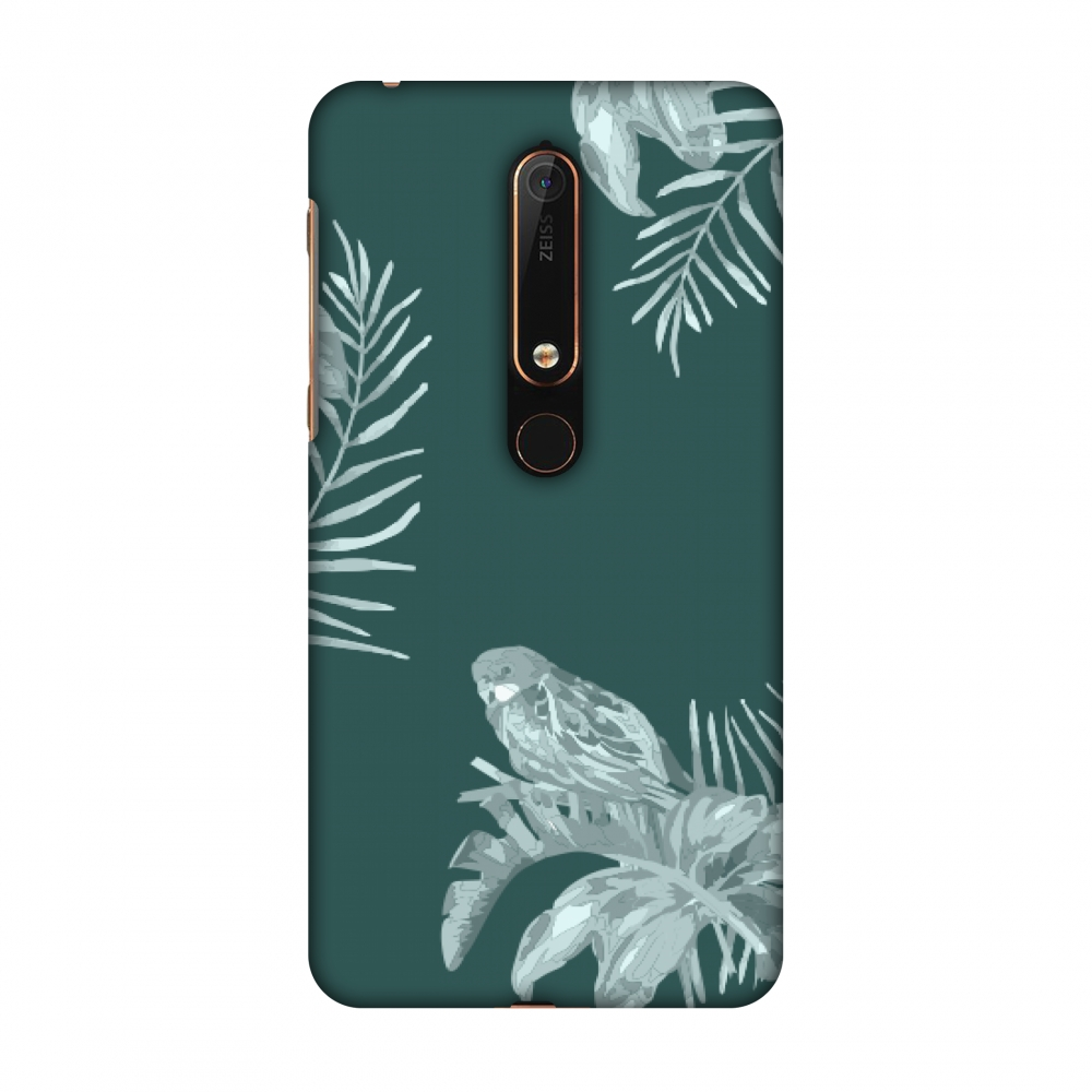 New Nokia 6 2018 Case - Elements of Tropical- Teal, Hard Plastic Back Cover, Slim Profile Cute Printed Designer Snap on Case with Screen Cleaning Kit