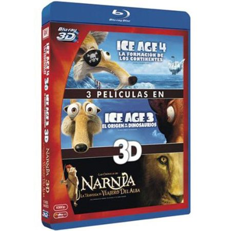 3D Collection: Ice Age 3/ Ice Age 4 / The Chronicles of Narnia: The Voyage of the Dawn Treader ( Ice Age: Dawn of the Dinosaurs / Ice Age: Continental Drift / The [ Blu-Ray, Reg.A/B/C Import - Spain