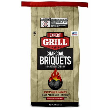 Expert Grill Charcoal Briquets, Charcoal Briquettes, 16 Lb