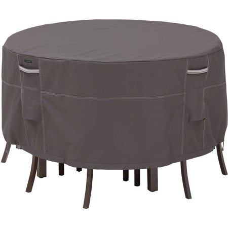 Classic Accessories Ravenna® Round Patio Table & Chair Set Cover - Water Resistant Outdoor Furniture Cover, 60