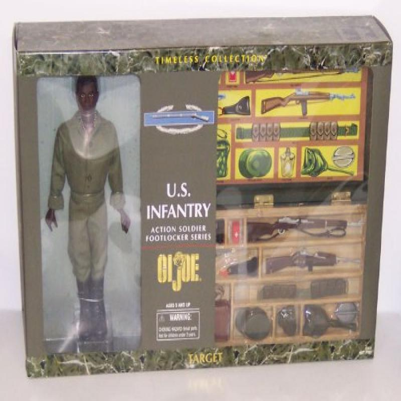 G.I. Joe U.S. Infantry Action Soldier with Footlocker African American by