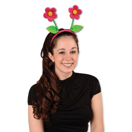 Club Pack of 12 Pink Spring Flower Bopper Headband Party Favors