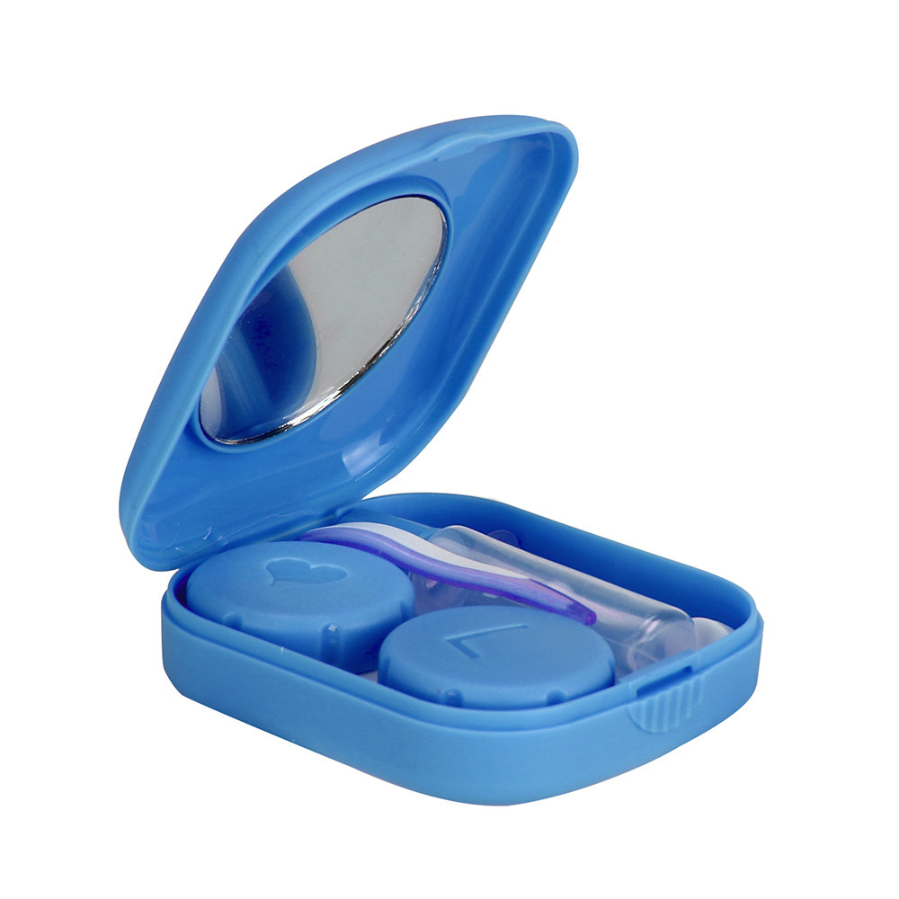 Outtop Portable Bottle Small Size Shaped Contact Lens Case Box Container Holder Green