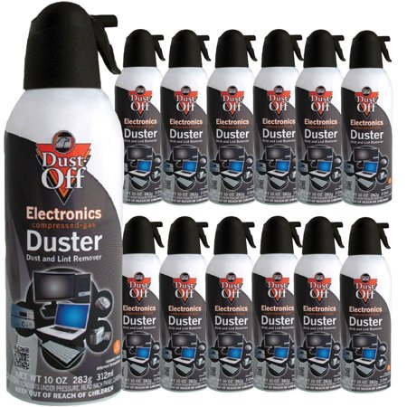 falcon dust off dust lint remover compressed air twelve 10 oz cans. Black Bedroom Furniture Sets. Home Design Ideas