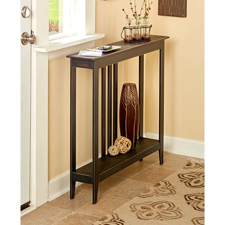 The Lakeside Collection Slim Space-Saving Accent Table (Antiqued Black) ()