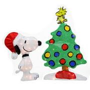 Northlight Seasonal Peanuts Pre-Lit 2D Snoopy and Christmas Tree Yard Art Decoration